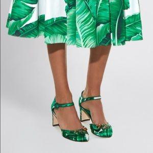 Banana Leaf-Print Ankle Strap Pumps D&G 1300$